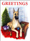 Great Dane Xmas Cards